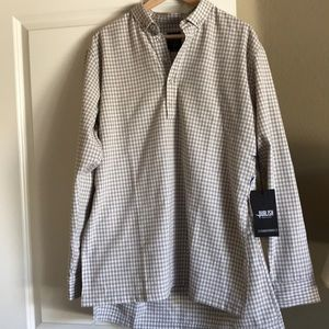 Publish tan checked long sleeve in large